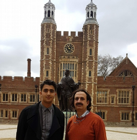 Hamza and his father Shaukat Hussain